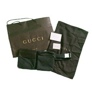 Gucci Dark Brown Fanny Pack Belt Bag Waist Bag